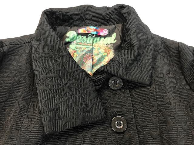 Desigual mantel schwarz bunt