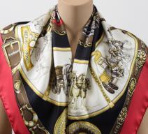 Hermès Seidenschal 'Chevaux de Trait'