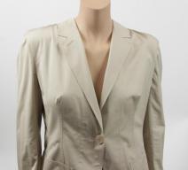 Hermès Hosenanzug Baumwolle beige