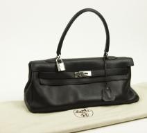 Hermès Kelly Shoulder Bag schwarz black