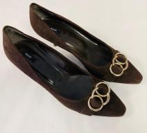 BALLY PUMPS WILDLEDER DUNKELBRAUN GOLD