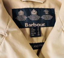 BARBOUR TRENCH COAT BAUMWOLLE HELLBRAUN