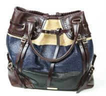 Burberry Prorsum Tasche dunkelbraun blau