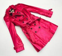 BURBERRY TRENCH COAT LEDER METALIC PINK