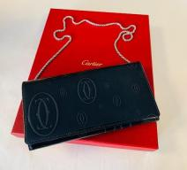 CARTIER HAPPY BIRTHDAY BRIEFTASCHE MIT KETTE LEDER ANTHRAZIT