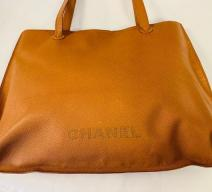 CHANEL SHOPPER VINTAGE LEDER BRAUN