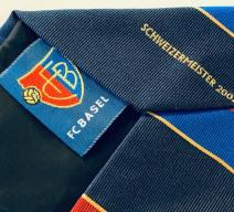 FCB SCHWEIZERMEISTER 2002 KRAWATTE SEIDE ROT BLAU