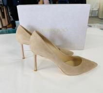 JIMMY CHOO PUMPS ROMY WILDLEDER NUDE