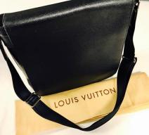 LOUIS VUITTON LAPTOP TASCHE LEDER NACHTBLAU
