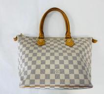 LOUIS VUITTON SALEYA PM DAMIER AZUR CANVAS LEDER CRU HELLGRAU