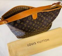 LOUIS VUITTON SCHULTERTASCHE DELIGHTFUL MONOGRAM CANVAS LEDER BRAUN