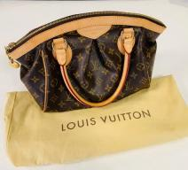 LOUIS VUITTON TIVOLI MONOGRAM HANDTASCHE CANVAS LEDER BRAUN GOLD