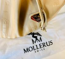 MAISON MOLLERUS SCHULTERTASCHE CRÈME GOLD