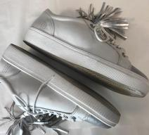 MARCCAIN SNEAKERS LEDER WEISS SILBER