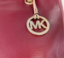 MICHAEL KORS SHOPPER LEDER BORDEAUX GOLD