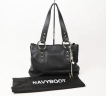 Navyboot Handtasche Schwarz Silber