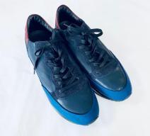 Philippe Model Herren Schuhe Leder blau