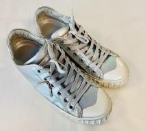 PHILIPPE MODEL SNEAKERS LEDER SILBER