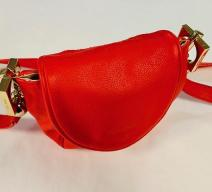 SEE BY CHLOÉ CROSSBODY TASCHE LEDER ORANGE ROT