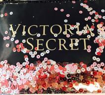 VICTORIA'S SECRET KLEINE TASCHE PAILLETTEN SCHWARZ ROT PINK SILBER