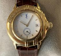 YVES SAINT LAURENT UHR GOLD BRAUN