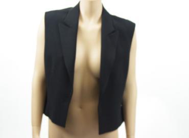 Hermès Gilet Seide schwarz