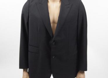Hermès Herren Jacket Wolle Mohair schwarz