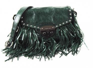PRADA Leder Handtasche mit Fransen