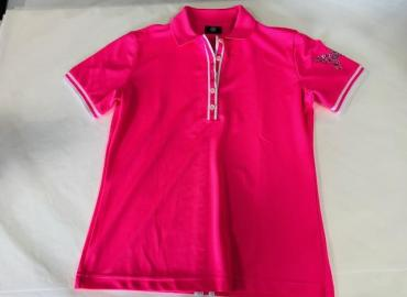 BOGNER POLO-SHIRT POLYESTER ROSA WEISS SCHMETTERLING