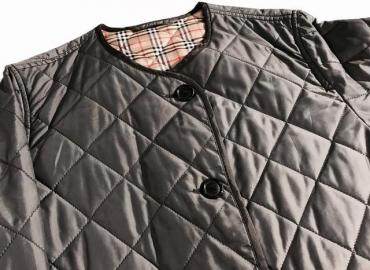 BURBERRY STEPPJACKE GRAU