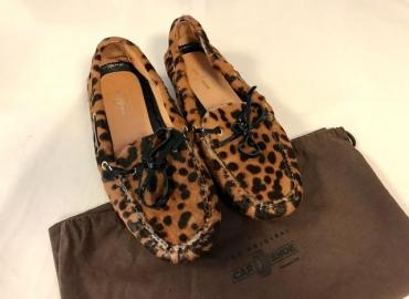 CAR SHOE MOKASSIN LEOPARDENLOOK BRAUN SCHWARZ