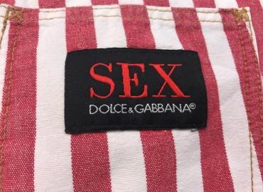 Dolce & Gabbana Jeans Hose rot weiss