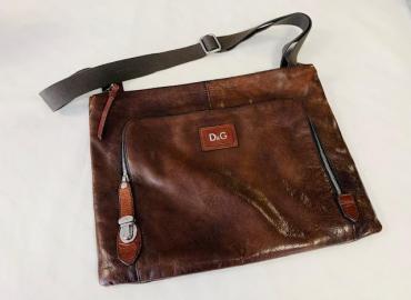 Dolce & Gabbana Umhängetasche Bag Alan Leder dunkelbraun