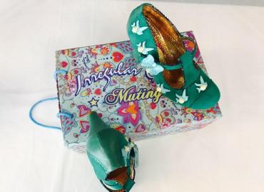 IRREGULAR CHOICE PUMPS ALCANTARA LEDER GRÜN