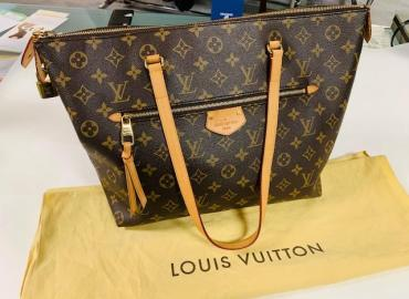 LOUIS VUITTON LÉNA MONOGRAM CANVAS LEDER BRAUN GOLD