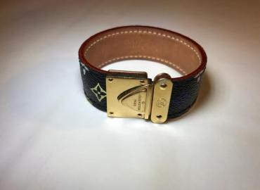 LOUIS VUITTON MULTICOLOR LEDERARMBAND SCHWARZ