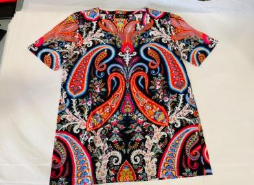 MCM T-Shirt Baumwolle schwarz multicolor