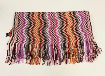 MISSONI SCHAL WOLLE ROSA BUNT SILBER GOLD