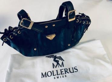 Mollerus Vinerus Black Schultertasche schwarz gold