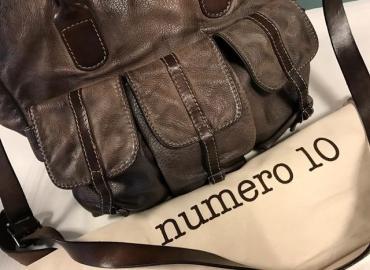 NUMERO 10 TASCHE LEDER HELLBRAUN DUNKELBRAUN