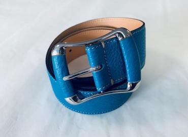 Tod's Ledergürtel Leder Metall blau